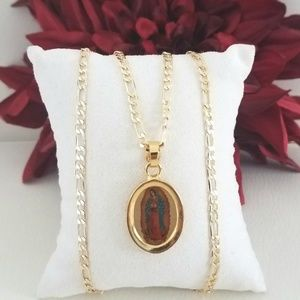 Lady of Guadalupe Oval Necklace